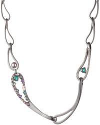 Carolee Paisley Link Collar Necklace - Metallic