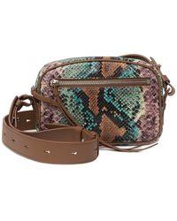 AllSaints Sliver Snake Embossed Leather Belt Bag - Multicolor