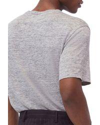 Baldwin Denim Nolen Linen T-shirt - Gray