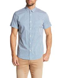 CALVIN KLEIN 205W39NYC - Micro Geometric Print Button Down Shirt - Lyst