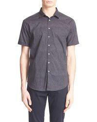 John Varvatos - Extra Trim Fit Print Short Sleeve Shirt - Lyst