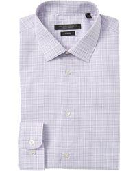 John Varvatos Mens Microdot Slim Fit Button Up Dress Shirt
