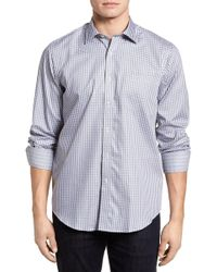 Bugatchi - Regular Fit Check Sport Shirt - Lyst