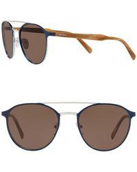 Prada Phantos 54mm Modified Aviator Sunglasses - Metallic