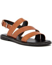 Franco Sarto - Kelso Leather Strappy Sandal - Lyst