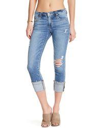 Joe's Jeans - Cuffed Crop Jeans - Lyst