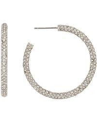 Nadri - Thin Pave 35mm Hoop Earrings - Lyst