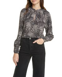 Joie Shauna Mixed Animal Print Blouse - Multicolor