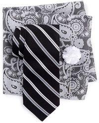 Ben Sherman - Sussex Stripe Tie, Pocket Square, & Lapel Stick Pin - Lyst