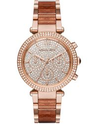Michael Kors - Oversized Slim Runway Rose Gold-tone Watch - Lyst