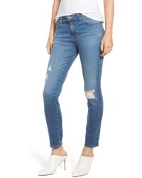 AG Jeans - Prima Ankle Rip Cigarette Jeans In 17 Years Enduring - Lyst