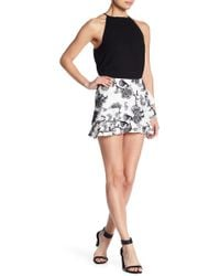 Do+Be Collection - Embroidered Ruffle Mini Skirt - Lyst