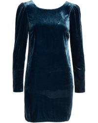 Charles Henry - Velvet Sheath Dress (petite) - Lyst