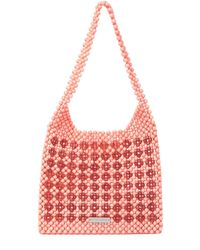 Loeffler Randall Charlie Beaded Tote - Red