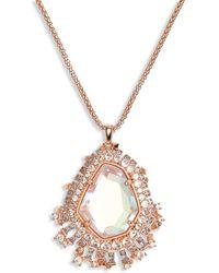 Kendra Scott Daenerys Long Pendant Necklace - Metallic