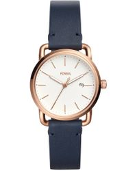 Fossil - Women's The Commuter Leather Strap Watch - Lyst