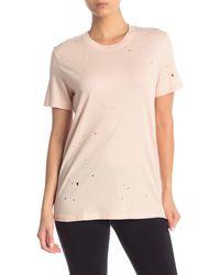 Alo Yoga - Distressed T-shirt - Lyst