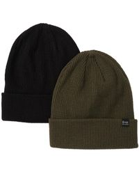 Bickley + Mitchell Knit Beanie - Pack Of 2 - Black