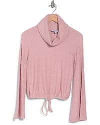 Cupcakes And Cashmere Giulia Cowl Neck Sweater - Pink