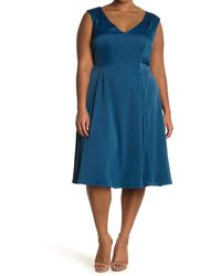 ModCloth Your Luxe-y Day Satin Midi Dress - Blue