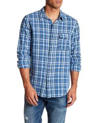 Save Khaki - Long Sleeve Madras Classic Fit Work Shirt - Lyst