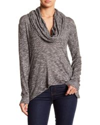 Go Couture - Cowl Neck Long Sleeve Sweater - Lyst