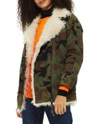 TOPSHOP - Jake Camouflage Jacket - Lyst