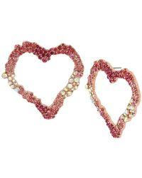 Betsey Johnson - Open Heart Drop Earrings - Lyst