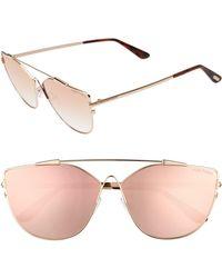 Tom Ford - Jacquelyn 64mm Cat Eye Sunglasses - Lyst