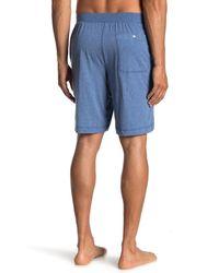 Daniel Buchler Heathered Knit Shorts - Blue