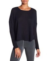 David Lerner - Long Sleeve Cropped Boxy Tee - Lyst