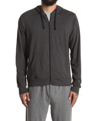 Unsimply Stitched Lightweight Zip-up Hoodie - Gray