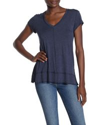 Heather by Bordeaux V-neck Tunic T-shirt - Blue