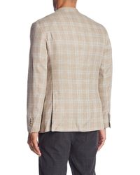 Robert Graham Clooney Plaid Tailored Fit Sportcoat - Natural