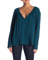 Love Stitch - Tie Front Long Sleeve Top - Lyst
