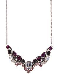 Swarovski - Impulse Multi Color Faceted Crystal Bib Necklace - Lyst