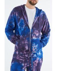 True Religion Tie Dye Zip Jacket - Blue
