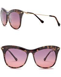 Elizabeth and James - Fairfax 53mm Acetate & Metal Cat Eye Sunglasses - Lyst