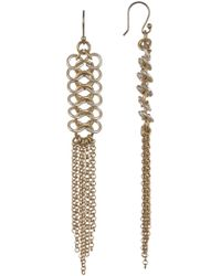Lucky Brand - Chain Link Fringe Earrings - Lyst