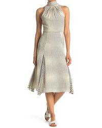 Reiss Jenna Spot Print Midi Dress - White