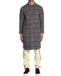John Elliott Wool Blend Top Coat - Gray