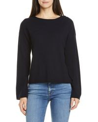 Vince Rolled Edge Wool & Cashmere Blend Hoodie - Multicolor