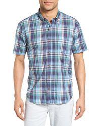 Tailor Vintage - Crinkle Plaid Sport Shirt - Lyst