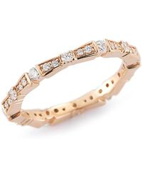 Dana Rebecca - 14k Rose Gold Diamond Accented Rochelle Joe Eternity Band Ring - 0.49 Ctw - Lyst