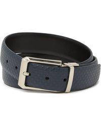 English Laundry Raised Diamond Reversible Leather Belt - Black