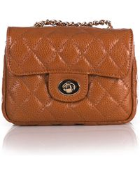 Zenith Quilted Leather Mini Bag - Brown
