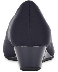 Bandolino Clesa Peep Toe Wedge Pump - Blue