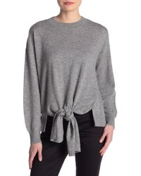 fc215883f7ce Lyst - FRAME Knot Front Wool   Cashmere Sweater in Gray