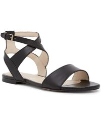 Cole Haan | Fenley Leather Flat Sandals | Lyst