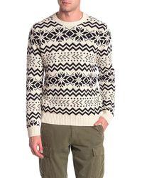 Joe Fresh Fair Isle Sweater - White